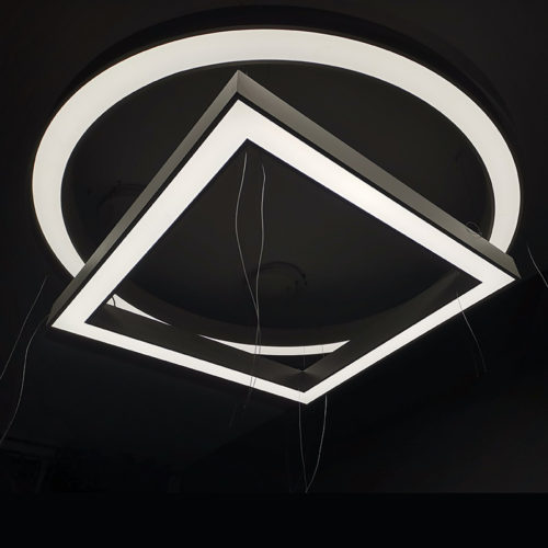 360 degree round light