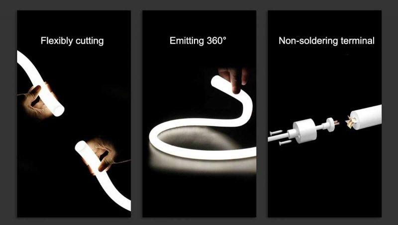 flexibly-cutting neon flex